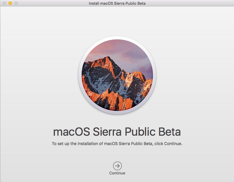 macOS Sierra installer