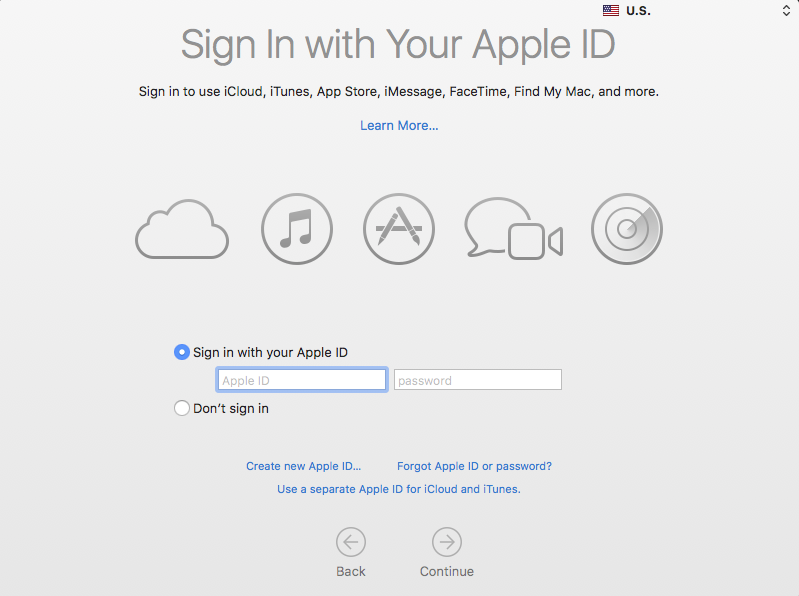 Sign up with Apple ID